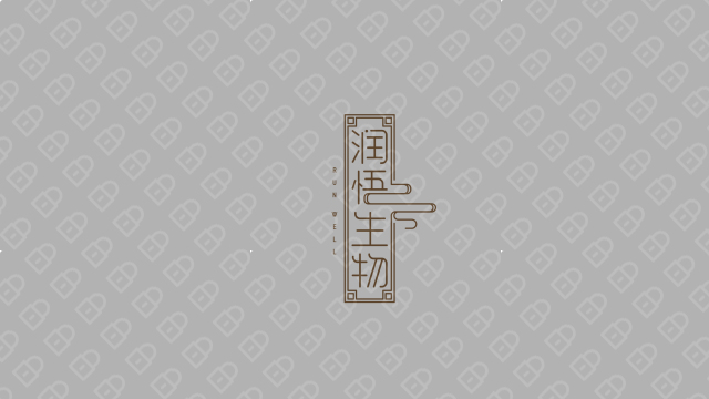 润悟生物LOGO设计入围方案1