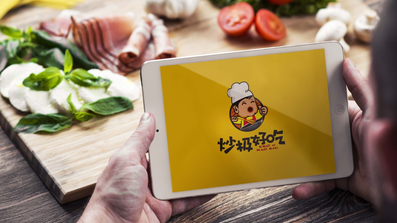 炒极好吃LOGO设计中标图3