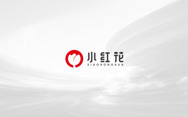 小紅花logo設計