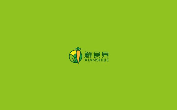 鮮食界 logo設計