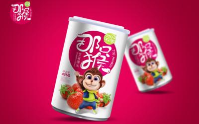 """""""那只猴""""草莓汁飲品"""