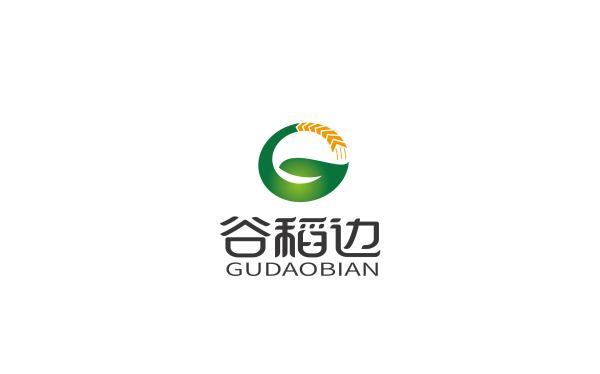 谷稻边农业logo设计