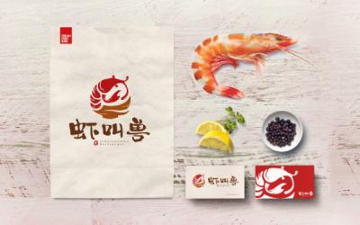 虾教授 logo设计