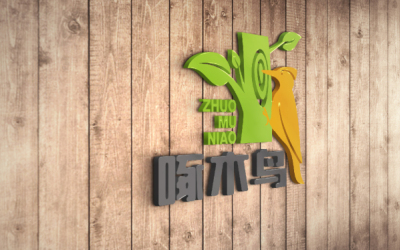 啄木鸟零食品牌logo