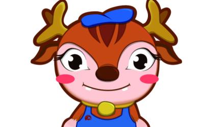 鹿鸣画室吉祥物设计