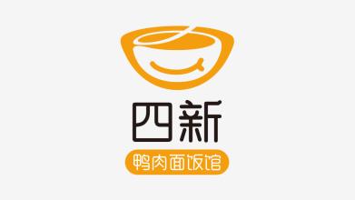 四新鸭肉面饭馆LOGO设计