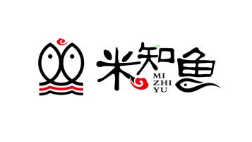 米知鱼餐饮店LOGO设计