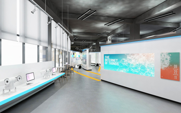 上海掌安物联网企业站厅设计