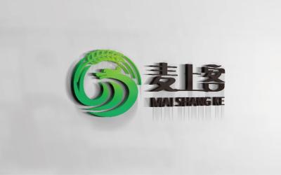 食品logo 农业logo 农粮logo 五谷logo 绿色logo 圆形logo 麦穗logo