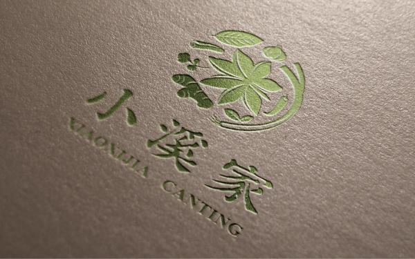 小溪家餐饮品牌logo设计