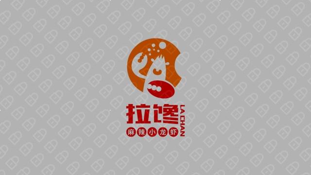 拉馋麻辣小龙虾LOGO设计入围方案1