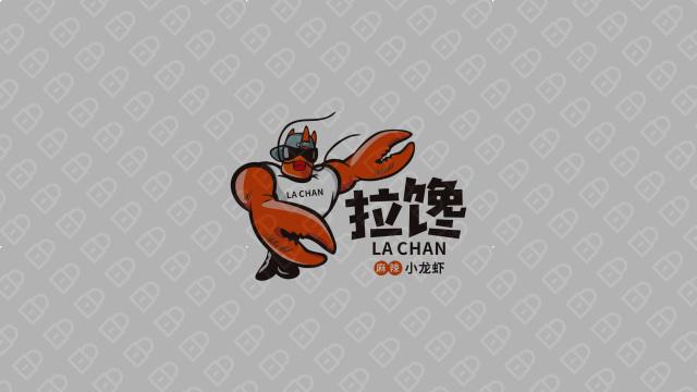 拉馋麻辣小龙虾LOGO设计入围方案3