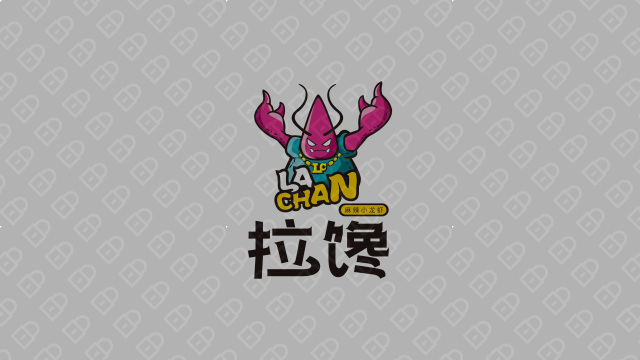 拉馋麻辣小龙虾LOGO设计入围方案4