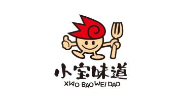 小寶家常菜館LOGO設計