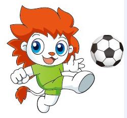 青少年足球吉祥物