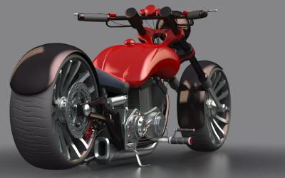 C4D摩托车建模、渲染