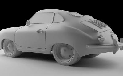 C4D老爷车建模、渲染