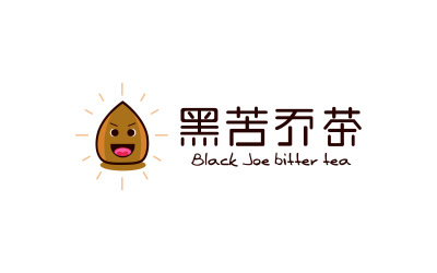 黑苦乔茶Logo