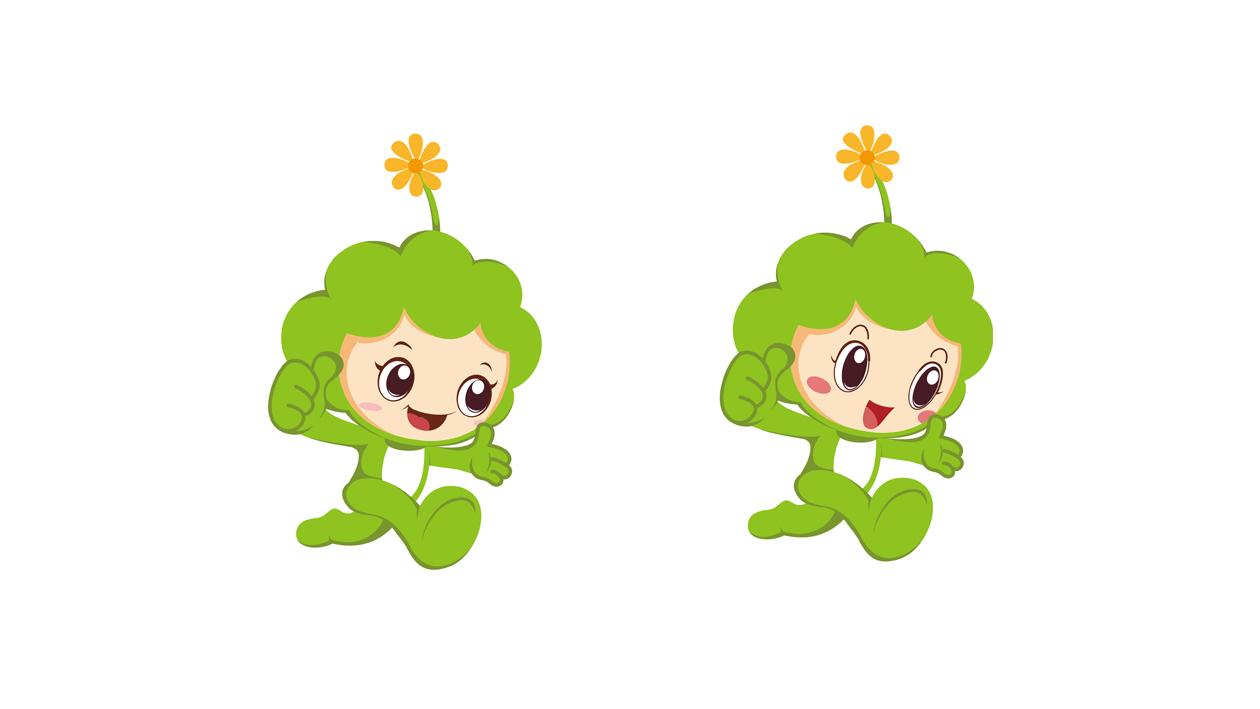 苔米幼儿园吉祥物设计