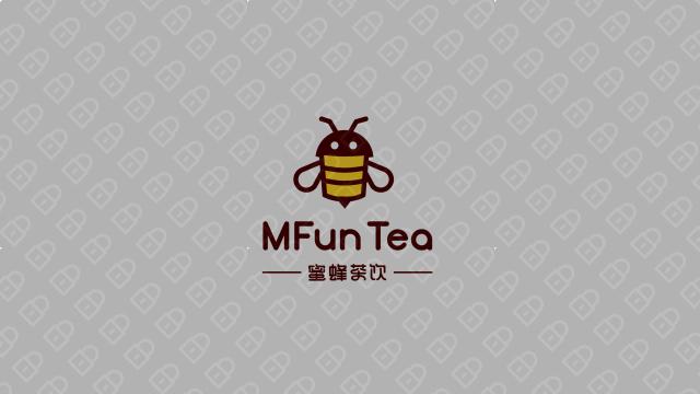 蜜蜂茶饮LOGO设计入围方案0