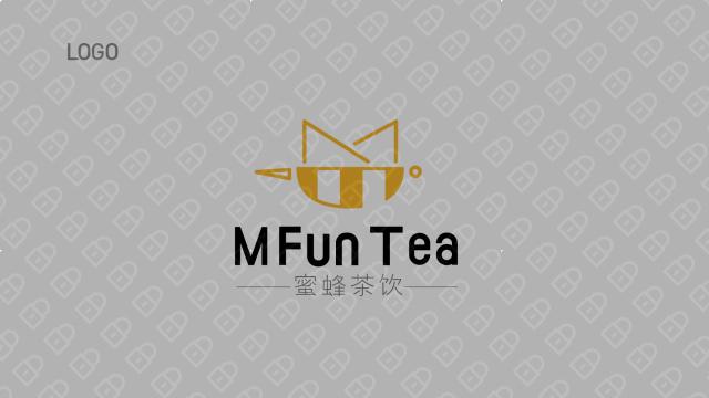 蜜蜂茶饮LOGO设计入围方案2