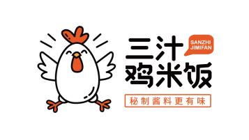 三汁雞米飯LOGO設計