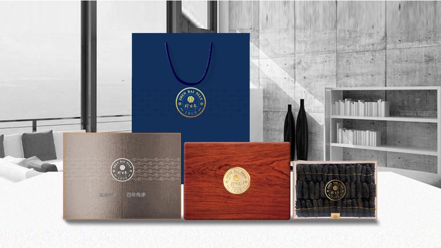 珍百年-木盒海参包装设计