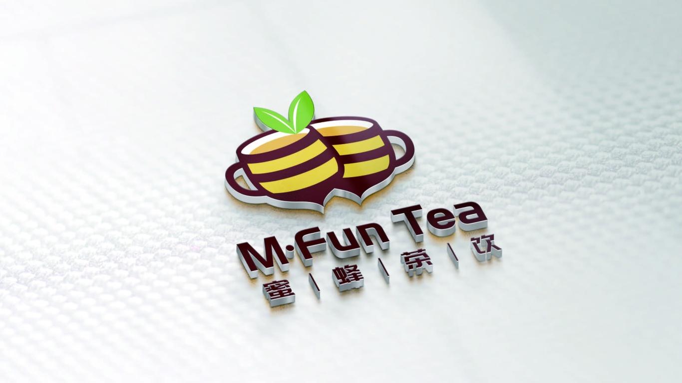 蜜蜂茶饮LOGO设计中标图3