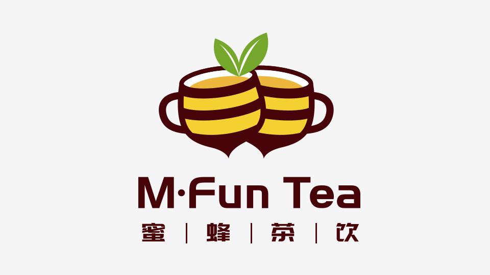 蜜蜂茶饮LOGO设计
