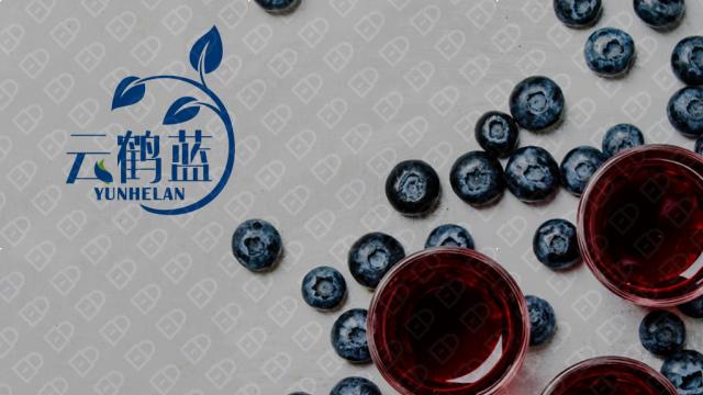 云鹤蓝包装标签设计入围方案4