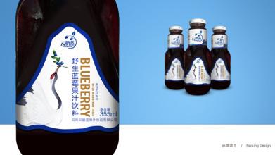 云鹤蓝饮品包装标签设计
