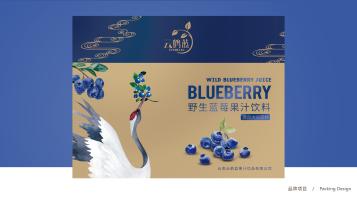 云鹤蓝蓝莓饮料包装设计