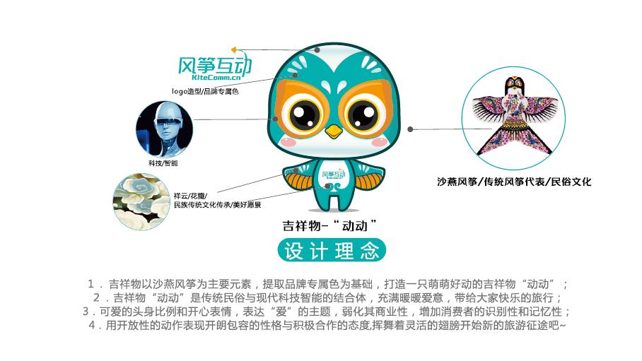 风筝互动吉祥物设计中标图0