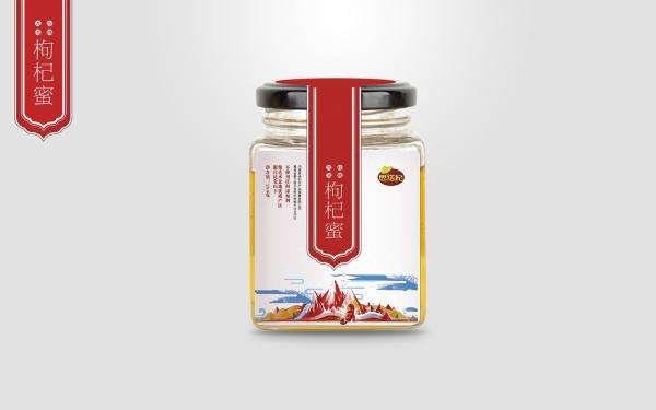 思诺杞蜂蜜,枸杞包装设计