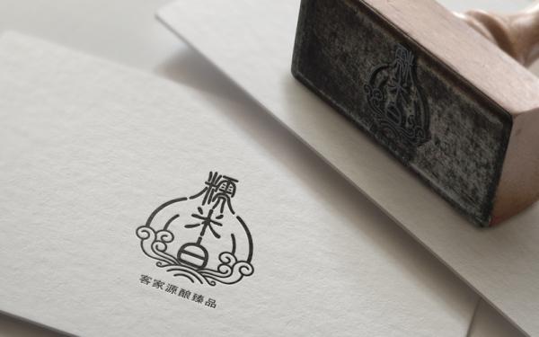 糯米白-酒logo