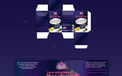 美国葡萄籽保健品包装设计
