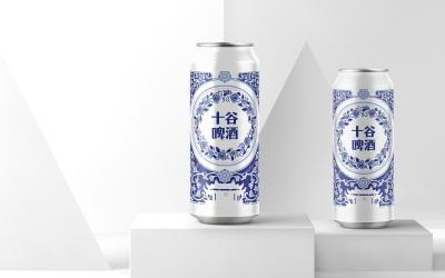 十谷啤酒易拉罐设计