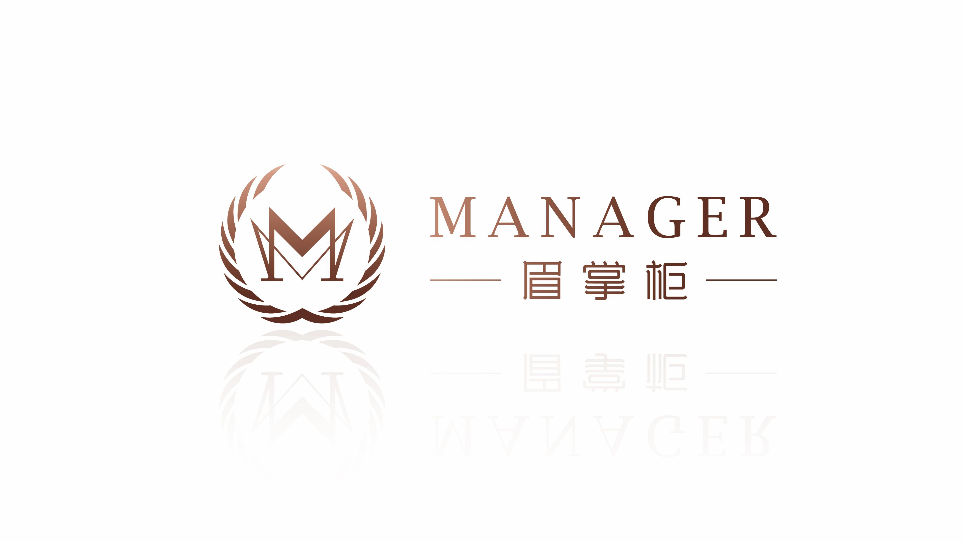 眉掌柜logo设计