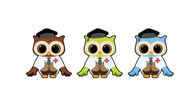貓頭鷹教授吉祥物設計