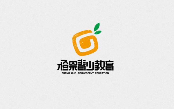 橙果青少教育logo设计