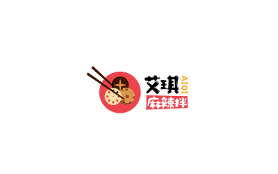 艾琪麻辣拌logo设计