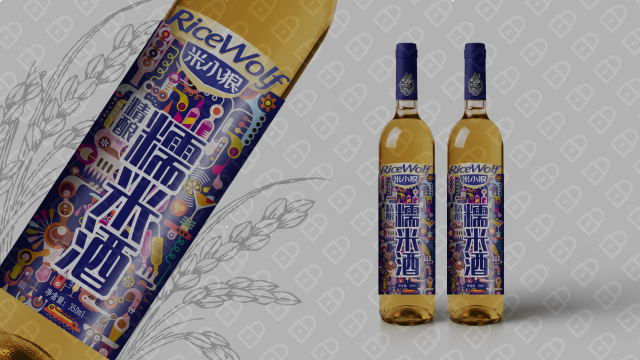 米小狼酒水品牌包裝設計入圍方案2