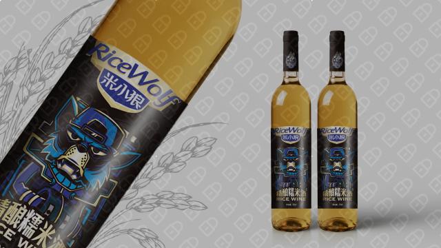 米小狼酒水品牌包裝設計入圍方案0