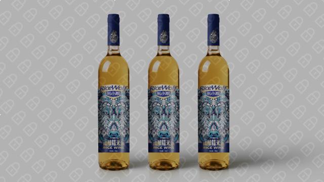 米小狼酒水品牌包裝設計入圍方案1