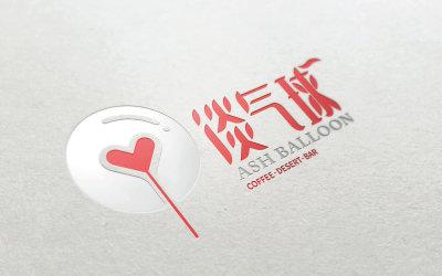 淡气球logo设计