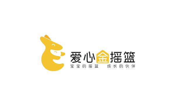 爱心金摇篮母婴商超Logo设计
