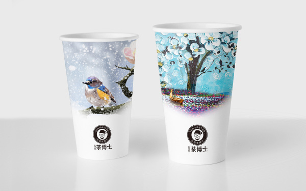 茶博士纸杯设计案例