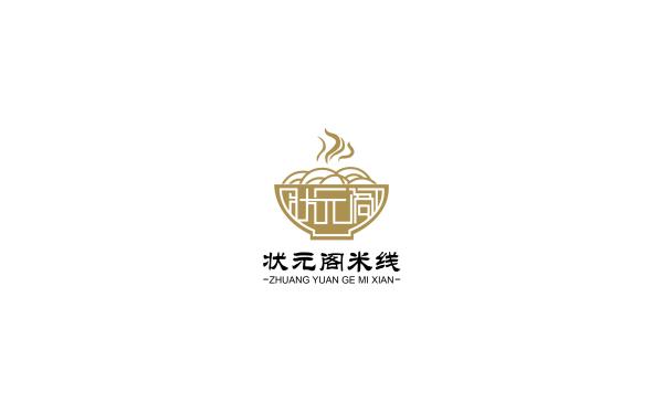 状元阁米线logo案例