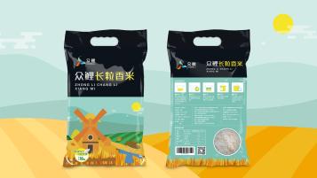 眾鯉長粒香米品牌包裝設計