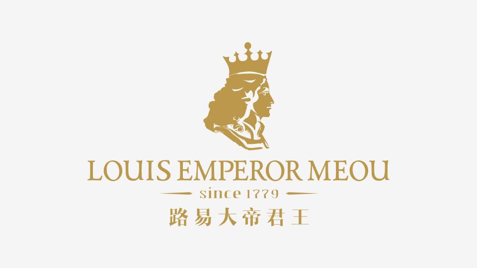 路易大帝君王洋酒品牌标志设计